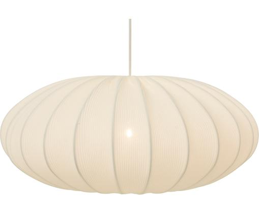 Lampa wisząca Mamsell, Metal, tkanina, Biały, Ø 55 x W 221 cm