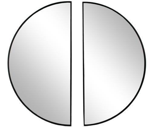 Okrągłe lustro ścienne Michael, 2 elem., Czarny, S 40 x W 79 cm