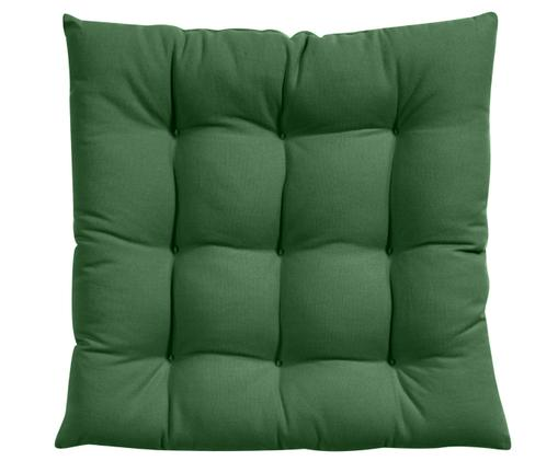 Cojín de asiento Ava, Funda: algodón, Verde oscuro, An 40 x L 40 cm