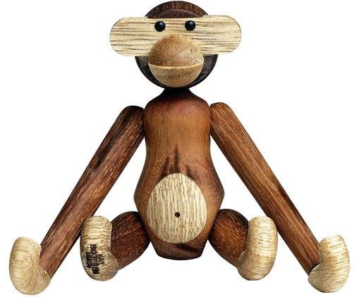 Dekoracja Monkey, Drewno tekowe, drewno limba, lakierowane, Drewno tekowe, drewno limba, S 10 x W 10 cm