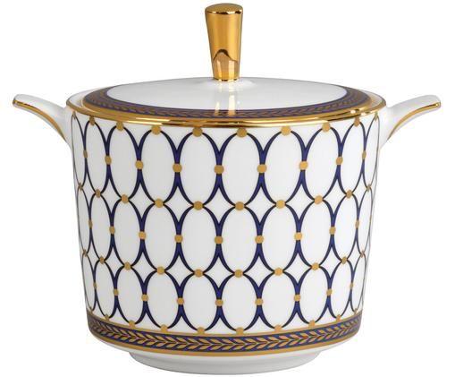 Sucrier Renaissance Gold, Blanc, bleu, or