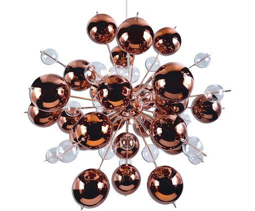 Lampa wisząca Explosion, Odcienie miedzi, Ø 65 x W 65 cm
