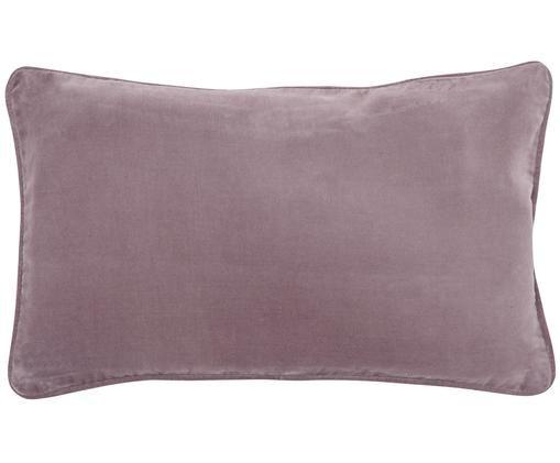 Federa arredo in velluto in rosa cipria Dana, Velluto di cotone, Rosa cipria, Larg. 30 x Lung. 50 cm