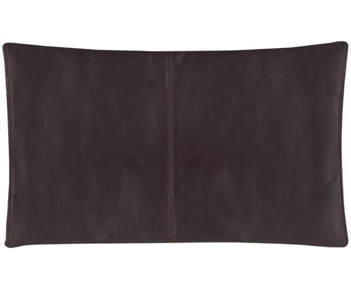 Federa arredo  in pelle Elegance, Rivestimento: 100% poliestere, Marrone scuro, Larg. 30 x Lung. 50 cm
