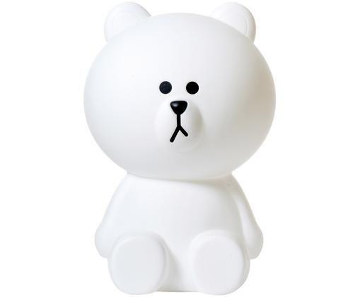 LED Bodenleuchte Mr. Brown, Polyethylen, Weiß, 35 x 52 cm
