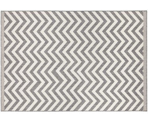 Dwustronny dywan wewnętrzny/zewnętrzny Palma, Szary, kremowy, S 200 x D 290 cm (Rozmiar L)