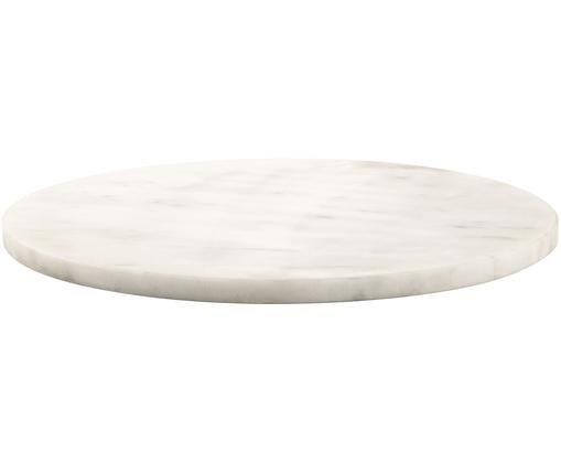 Marmor-Servierplatte Minu, Marmor, Weiß, Ø 30 cm