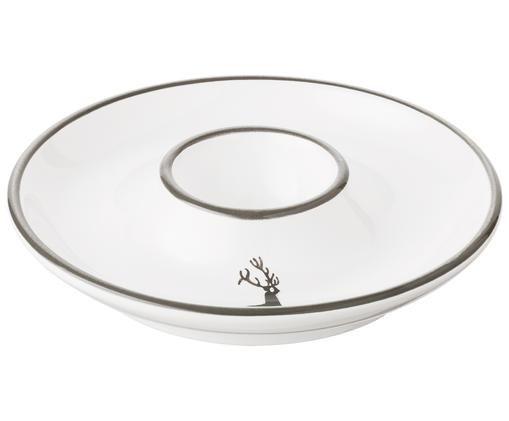 Eierbecher Classic Grauer Hirsch, Keramik, Grau,Weiß, Ø 12 cm