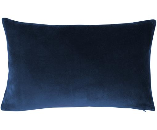 Funda de cojín de terciopelo Alyson, Azul marino