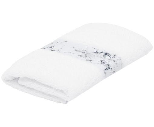 Asciugamano Malin, 96% cotone, 4% poliestere, qualità media 500 g/m², Bianco, Asciugamano per ospiti
