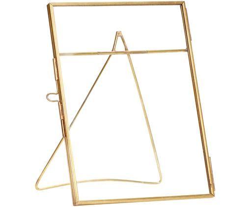 Ramka na zdjęcia Xamen, Mosiądz, transparentny, 12 x 17 cm