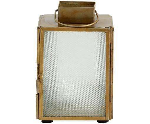 Laterne Lenntin, Messingfarben, Transparent