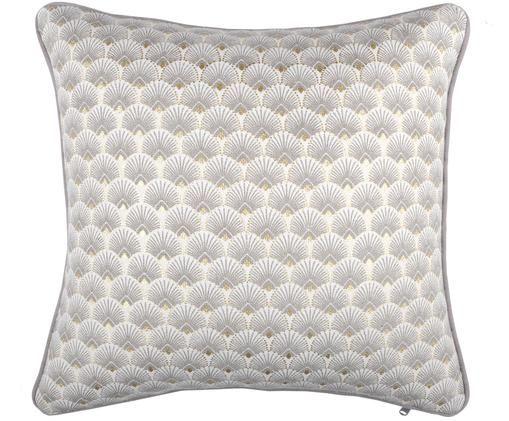 Poduszka z wypełnieniem Corosol, Bawełna, Szary, złoty, S 40 x D 40 cm