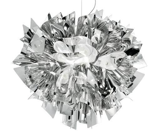 Lampada a sospensione fatta a mano Veli, Tecnopolimero Steelflex®, metallizzato, riflettente, flessibile, Argento, Ø 42 x Alt. 36 cm