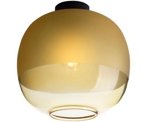 Plafondlamp Bale, Amberkleurig