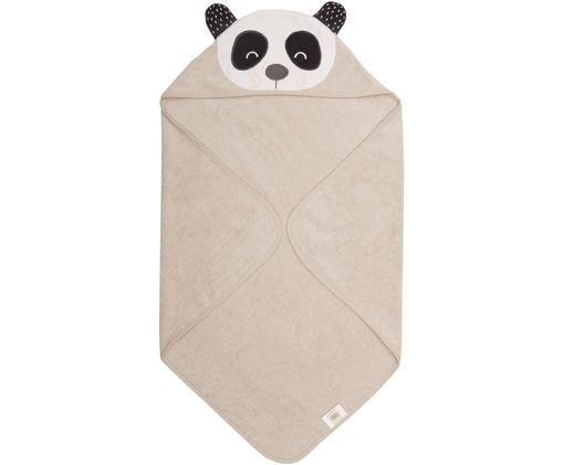 Babyhandtuch Panda Penny aus Bio-Baumwolle, Bio-Baumwolle, GOTS-zertifiziert, Beige, Weiß, Dunkelgrau, 80 x 80 cm