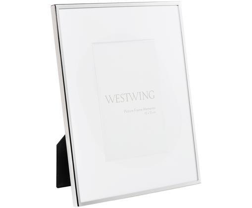 Cornice Memento, Cornice: metallo, nichelato, Retro: legno, velluto, Argento, 10 x 15 cm