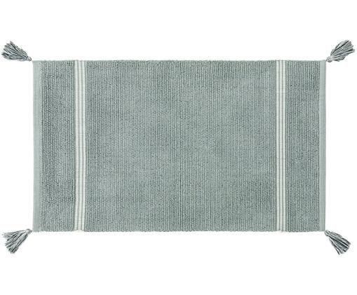 Dywanik łazienkowy  z chwostami Dust, Bawełna, Miętowy, S 50 x D 85 cm
