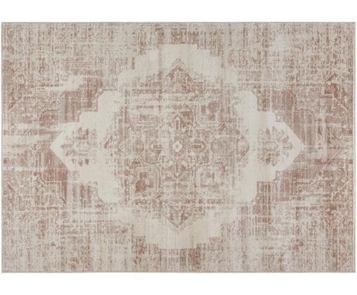 Tappeto Garonne in stile vintage, Polipropilene, Marrone rame, beige, Larg. 120 x Lung. 170 cm (taglia S)