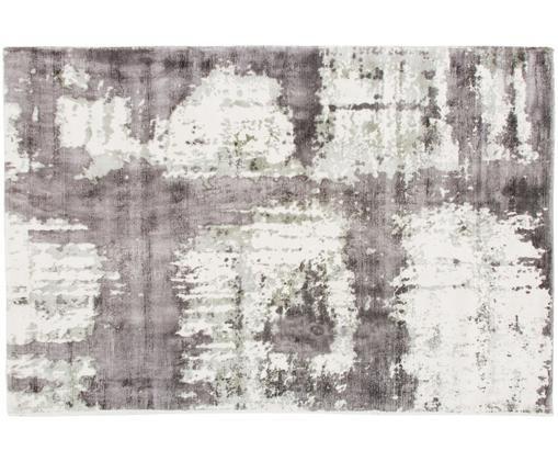 Tappeto in viscosa Lizzy, Crema, grigio, grigio scuro