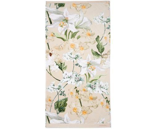 Ręcznik Rosalee, Bawełna, Beżowy, biały, zielony, pomarańczowy, Ręcznik kąpielowy