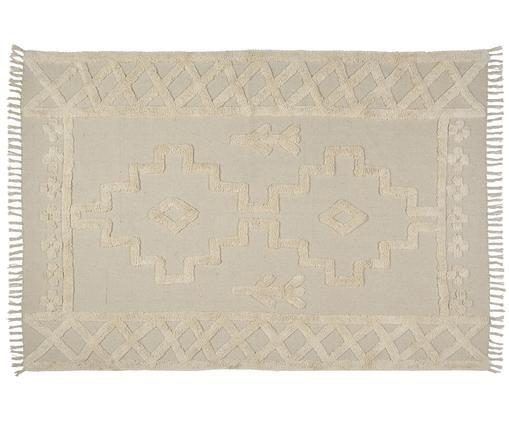 Alfombra Tinka, Algodón, Crema, An 160 x L 240 cm (Tamaño M)