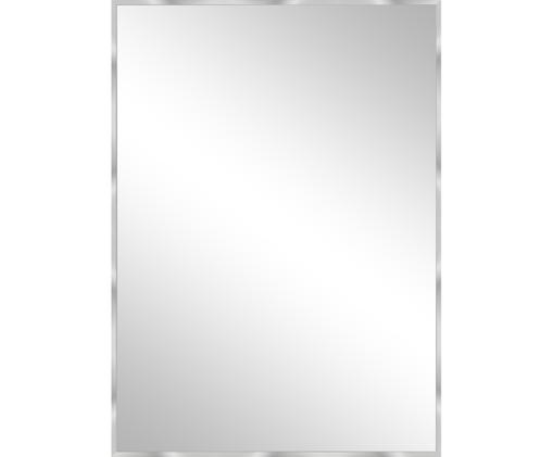 Wandspiegel Alpha, Rahmen: Aluminium, Spiegelfläche: Spiegelglas, Aluminium, 50 x 70 cm