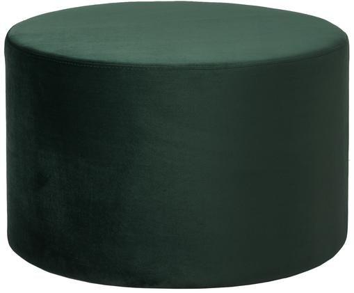 Puf z aksamitu Daisy, Tapicerka: aksamit (poliester) 1500, Tapicerka: pianka, 28kg/m³, Ciemnyzielony, Ø 62 x W 41 cm