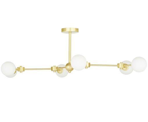 XL-Plafondlamp Aurelia, Wit, messingkleurig