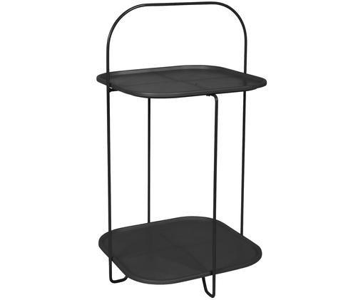 Stolik pomocniczy czarny Trays, Stelaż: stal lakierowana, Czarny, S 39 x W 70 cm