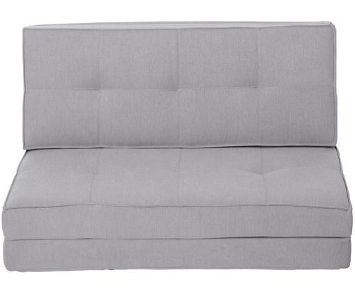 Canapé futon convertible Loui (2places), dépliant, Gris clair