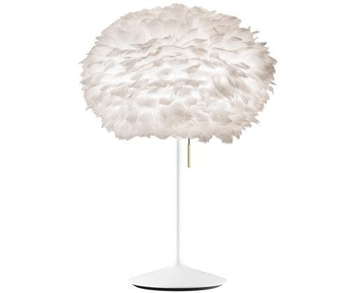 Duża lampa stołowa Eos Champagne, Stelaż: stal, Biały, Ø 45 x W 72 cm