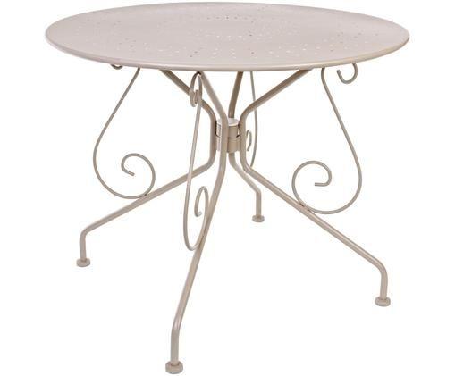 Table de jardin en acier Etienne, Taupe