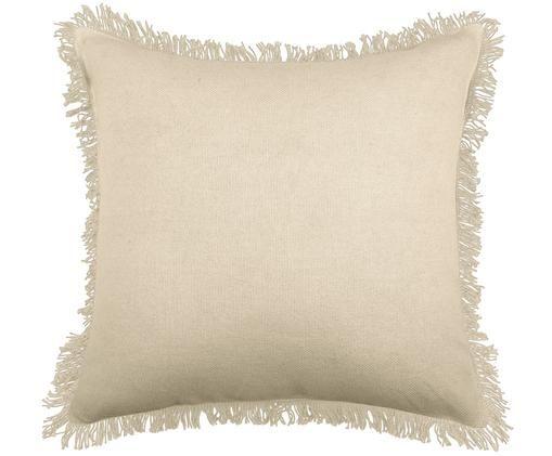 Poduszka z wypełnieniem Prague, Tapicerka: bawełna, Złamana biel, S 40 x D 40 cm