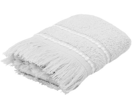 Ręcznik Britta, 95% bawełna, 5% poliester Średnia gramatura 500 g/m², Szary, biały, Ręcznik dla gości