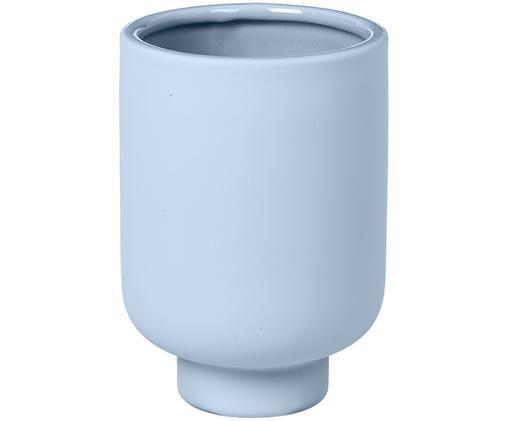 Vase Mushroom aus Steingut, Steingut, Blau, Ø 11 x H 16 cm
