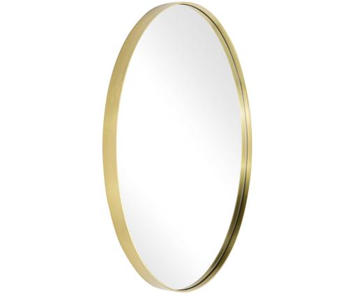 Okrągłe lustro ścienne Ada, Mosiądz, szczotkowany, Ø 80 cm