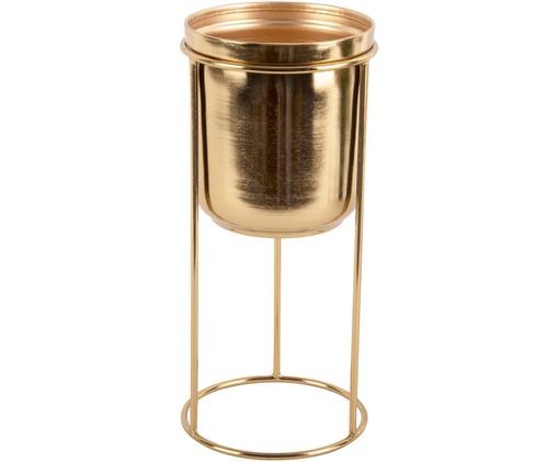 Portavaso Tub, Metallo rivestito, Ottonato, Ø 12 x Alt. 27 cm