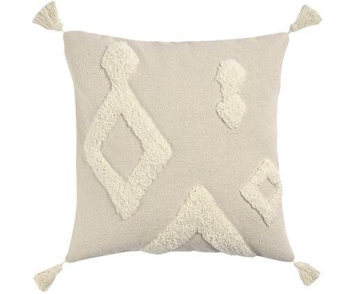 Poszewka na poduszkę Canvas, Bawełna, Złamana biel, S 45 x D 45 cm