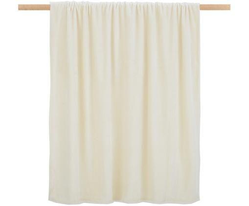 Miękki pled z polaru Doudou, Poliester, Złamana biel, S 130 x D 160 cm