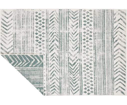 In- & Outdoor-Wendeteppich Biri mit grafischem Muster, Polypropylen, Grün, Creme, B 120 x L 170 cm (Größe S)
