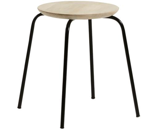 Tabouret empilable Ren, Manguier, noir