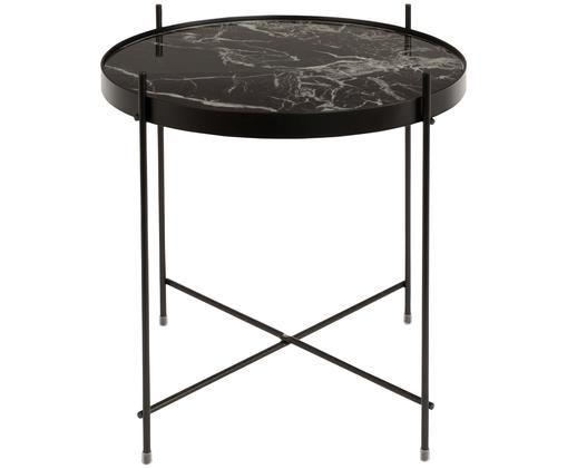Table d'appoint avec plateau amovible Cupid, Noir