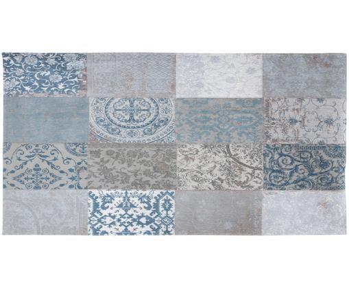 Tappeto Multi, Retro: Miscela di cotone, rivest, Blu, grigio, Larg. 80 x Lung. 150 cm (taglia XS)