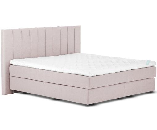 Premium boxspring bed Lacey, Matras: 7-zones-pocketveringkern , Poten: massief gelakt beukenhout, Oudroze, 180 x 200 cm