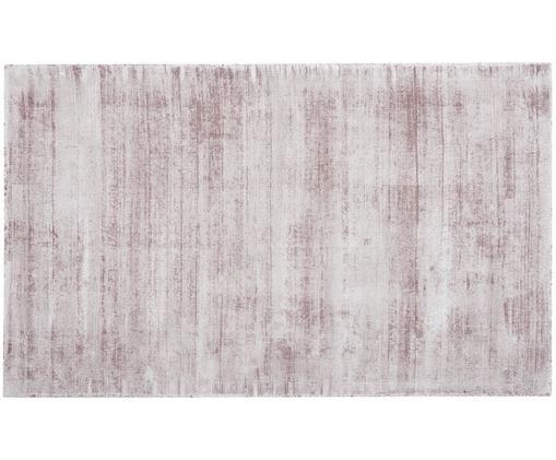 Tappeto in viscosa tessuto a mano Jane, Vello: 100% viscosa, Retro: 100% cotone, Lilla, Larg. 90 x Lung. 150 cm (taglia XS)
