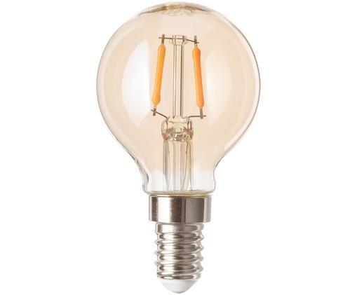 LED Leuchtmittel Luel (E14 / 1Watt), Leuchtmittelschirm: Glas, Leuchtmittelfassung: Aluminium, Bernsteinfarben, Ø 5 x H 8 cm