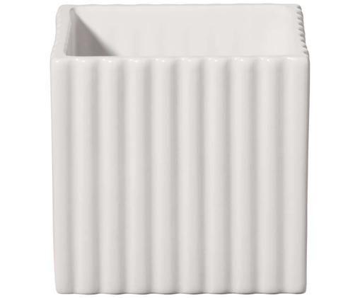 Portavaso in ceramica Quadro, Ceramica, Bianco, Larg. 10 x Alt. 10 cm