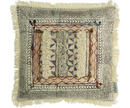 Cuscino etnico con imbottitura Klana, Cotone, Beige, Larg. 45 x Lung. 45 cm