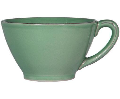 XL tazza di Costanza in verde salvia, Ceramica, Verde salvia, Ø 18 x Alt. 9 cm
